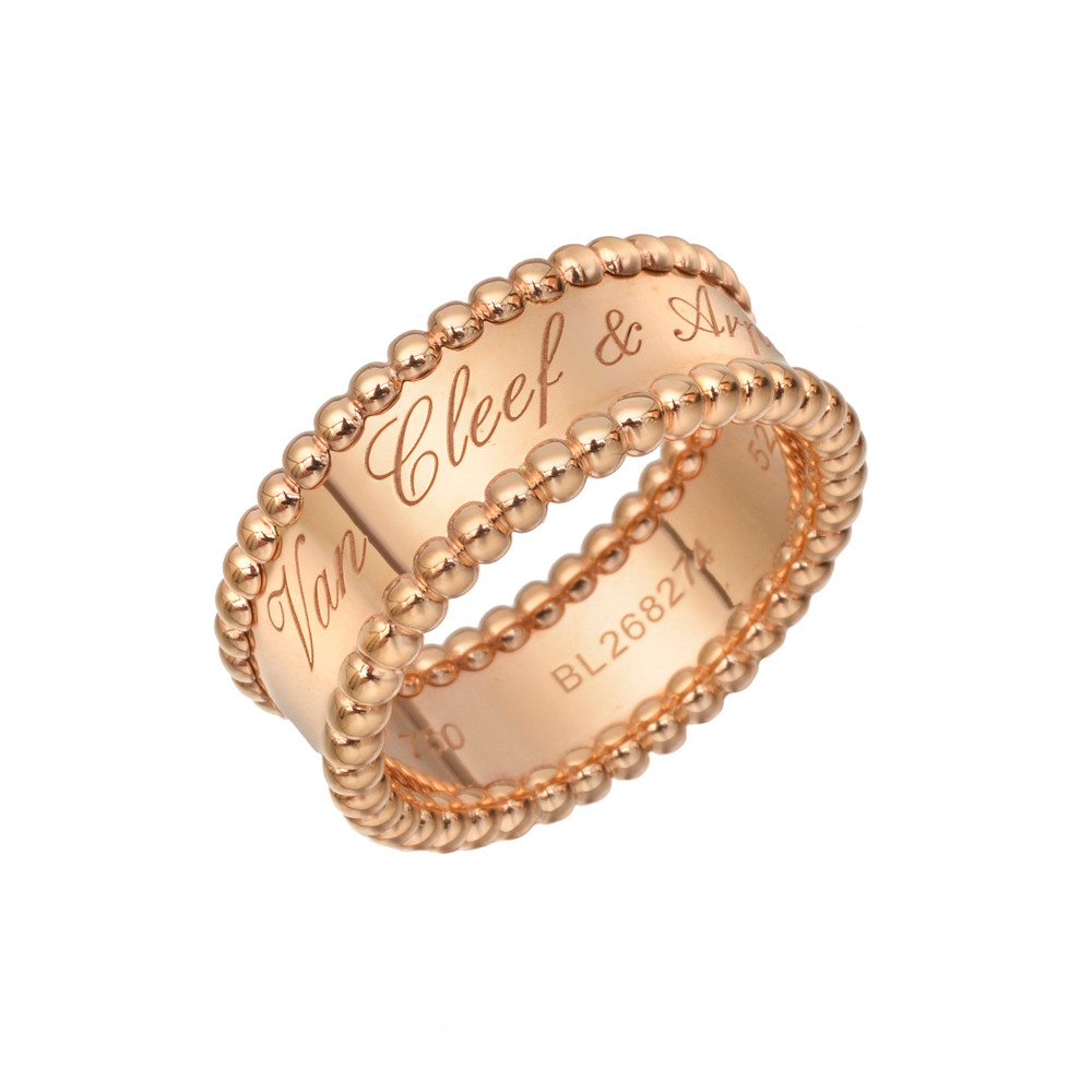 Van Cleef Amp Arpels Pink Gold Perl 233 E Band Ring Betteridge