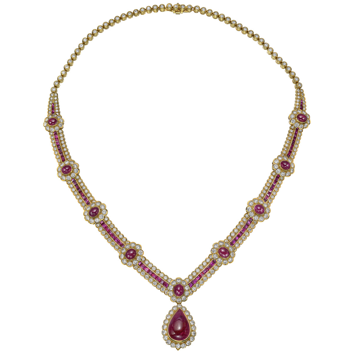 Ruby & Diamond Centerpiece Necklace
