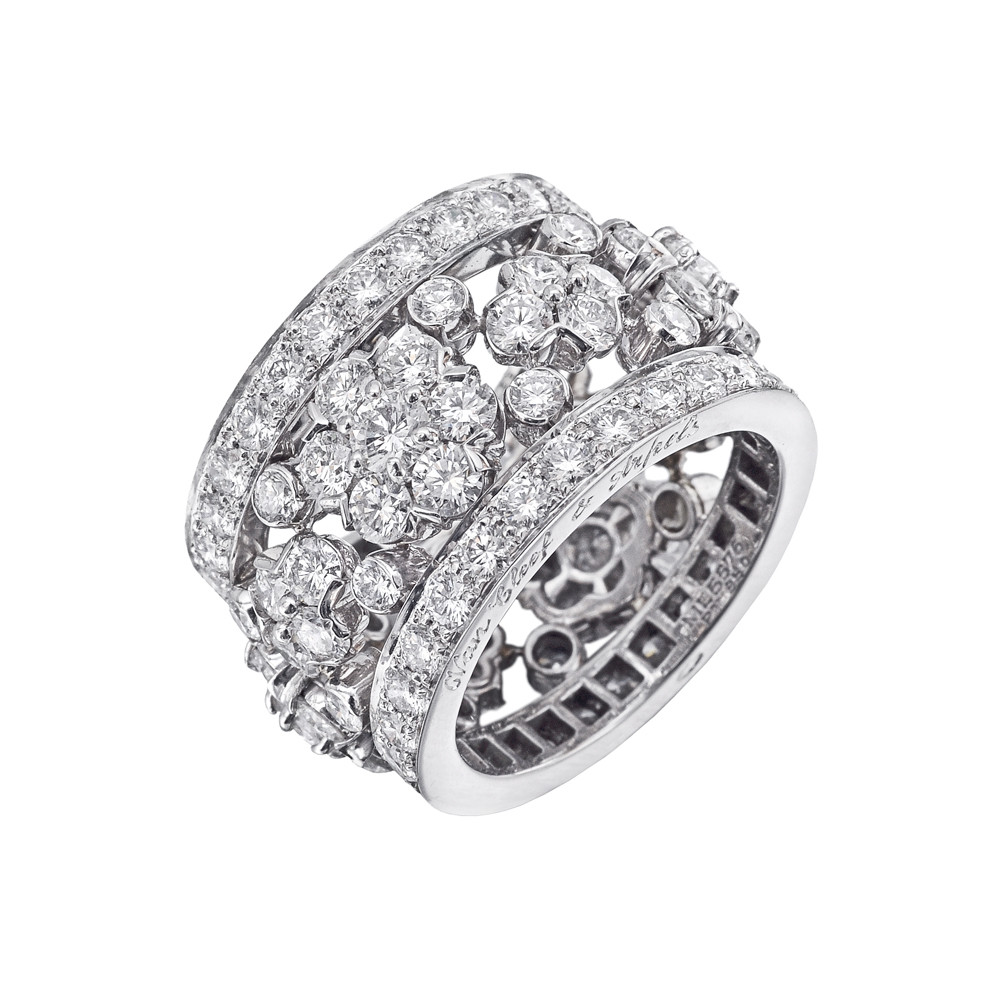 "Diamond ""Snowflake"" Band Ring"