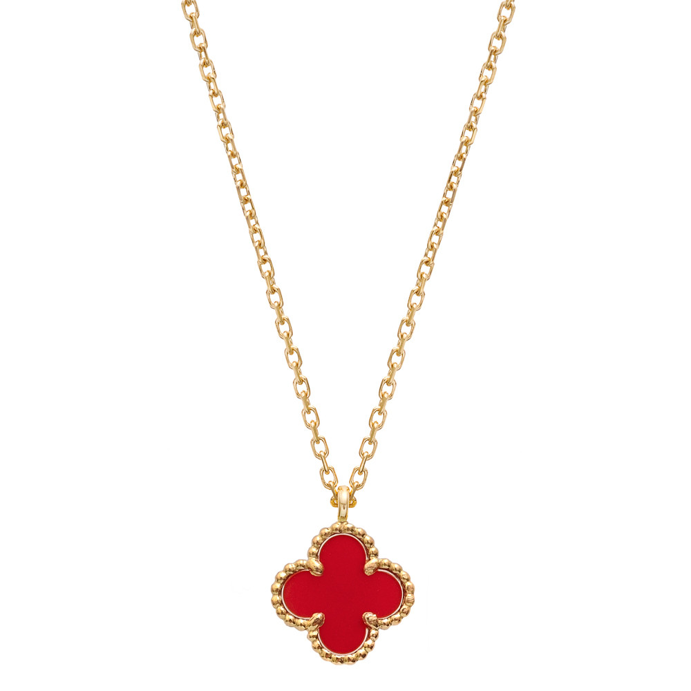 Van Cleef Amp Arpels Sweet Alhambra Clover Pendant On Chain
