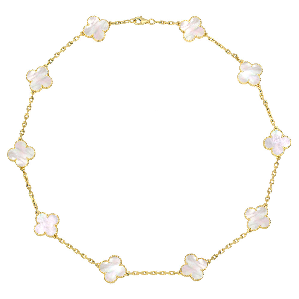 "Van Cleef And Arpels Mother Of Pearl Necklace: Van Cleef & Arpels Yellow Gold & Mother-of-Pearl ""Vintage"