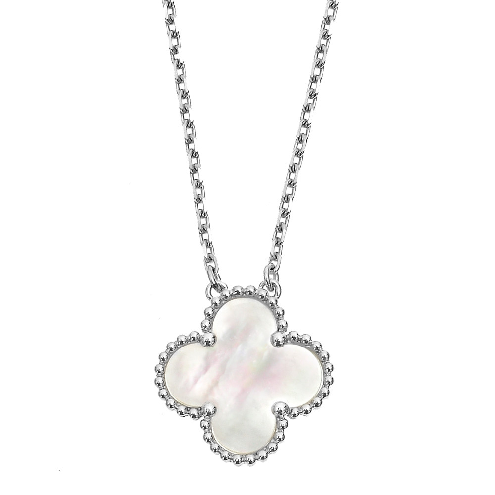 "Van Cleef And Arpels Mother Of Pearl Necklace: Van Cleef & Arpels White Gold & Mother-of-Pearl ""Vintage"