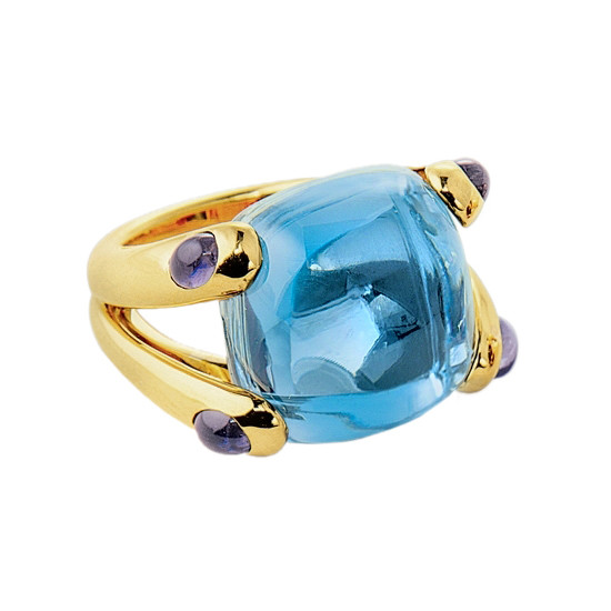 "Blue Topaz & Iolite ""Candy"" Ring"