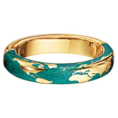 "18k Yellow Gold & Enamel ""Day"" Bangle"