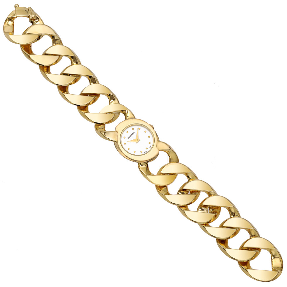18k Yellow Gold Curb-Link Bracelet Watch