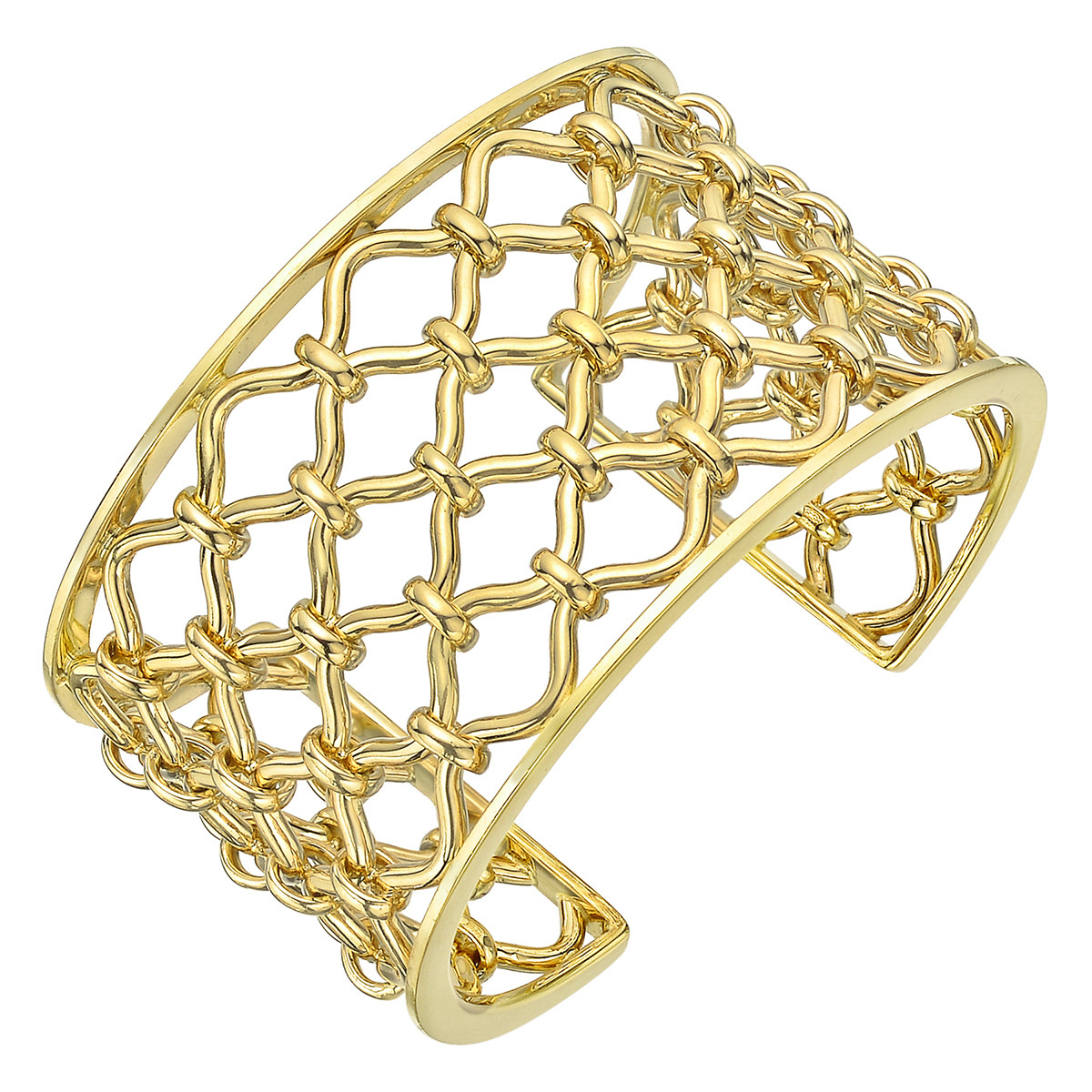 "18k Yellow Gold ""Kensington"" Cuff Bracelet"