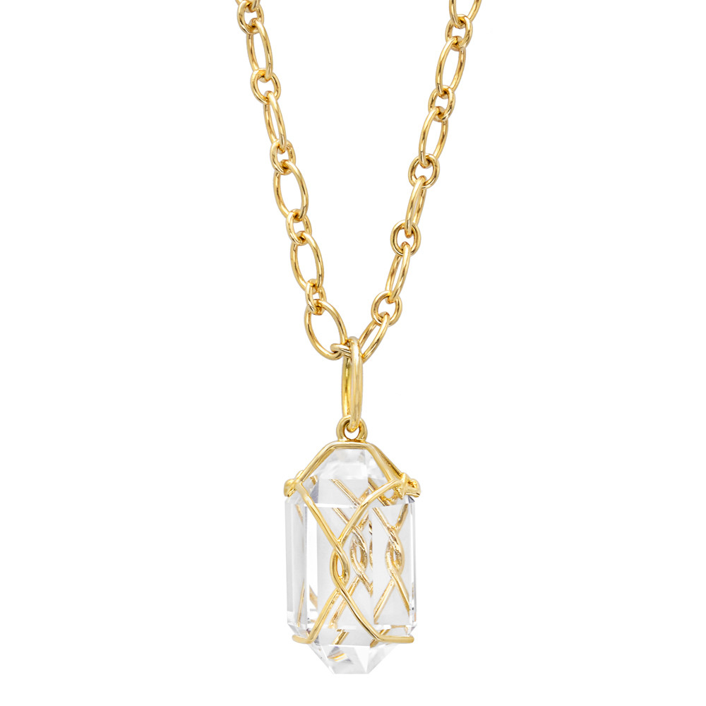 "Rock Crystal ""Herkimer"" Pendant Necklace"