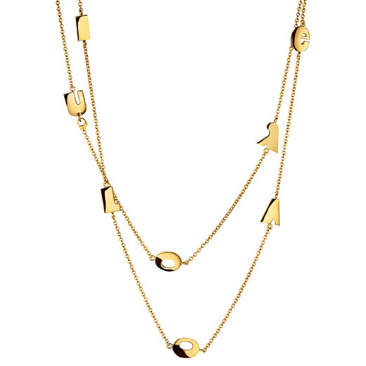 "18k Yellow Gold ""I LOVE YOU"" Necklace"