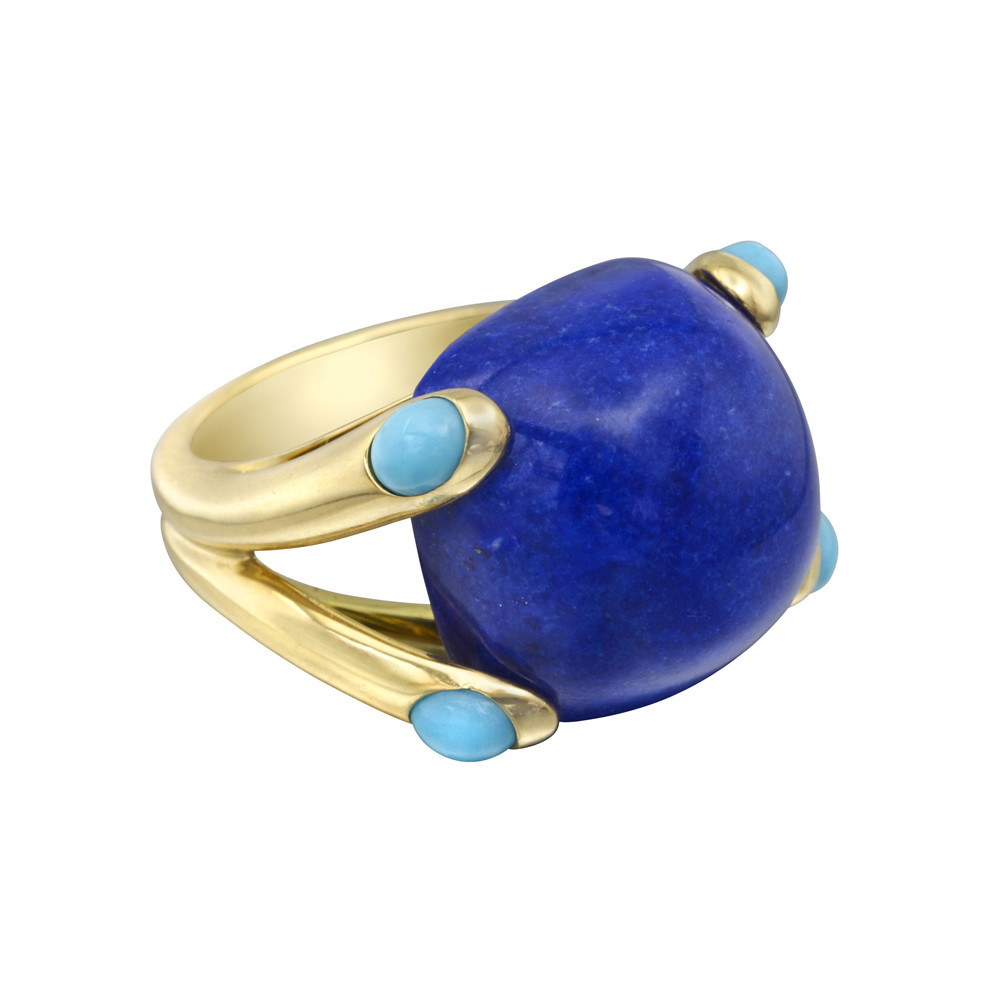 "Lapis & Turquoise ""Candy"" Ring"