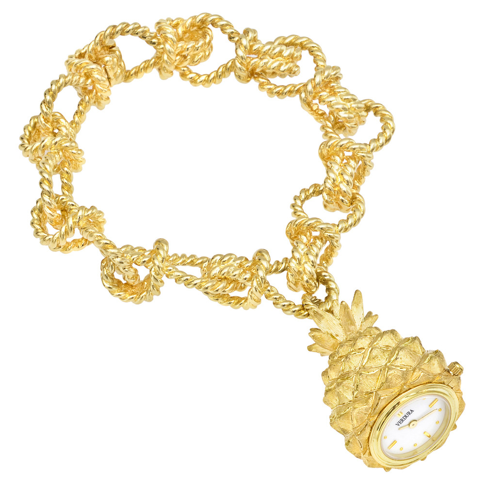 18k Yellow Gold Pineapple Bracelet Watch
