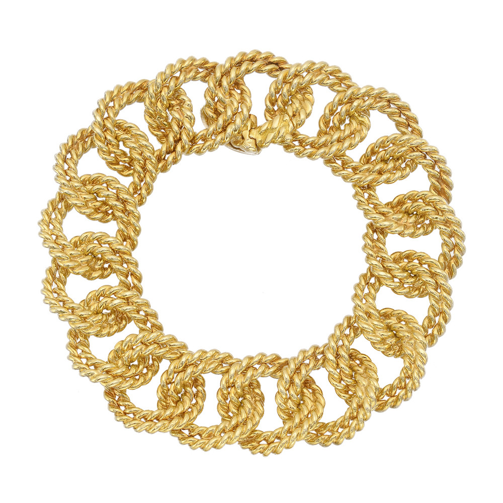 18k Yellow Gold Rope-Link Bracelet