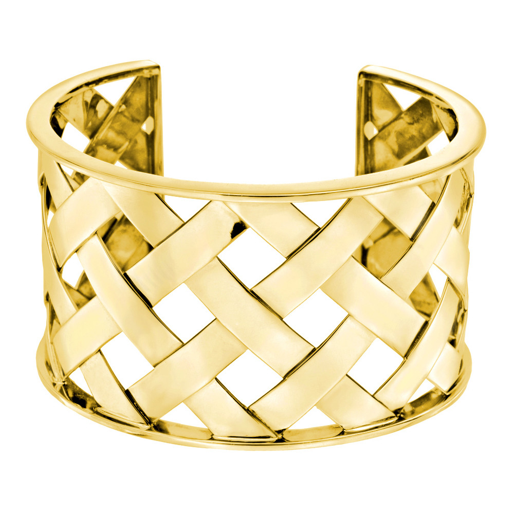 "18k Yellow Gold ""Criss Cross"" Cuff"