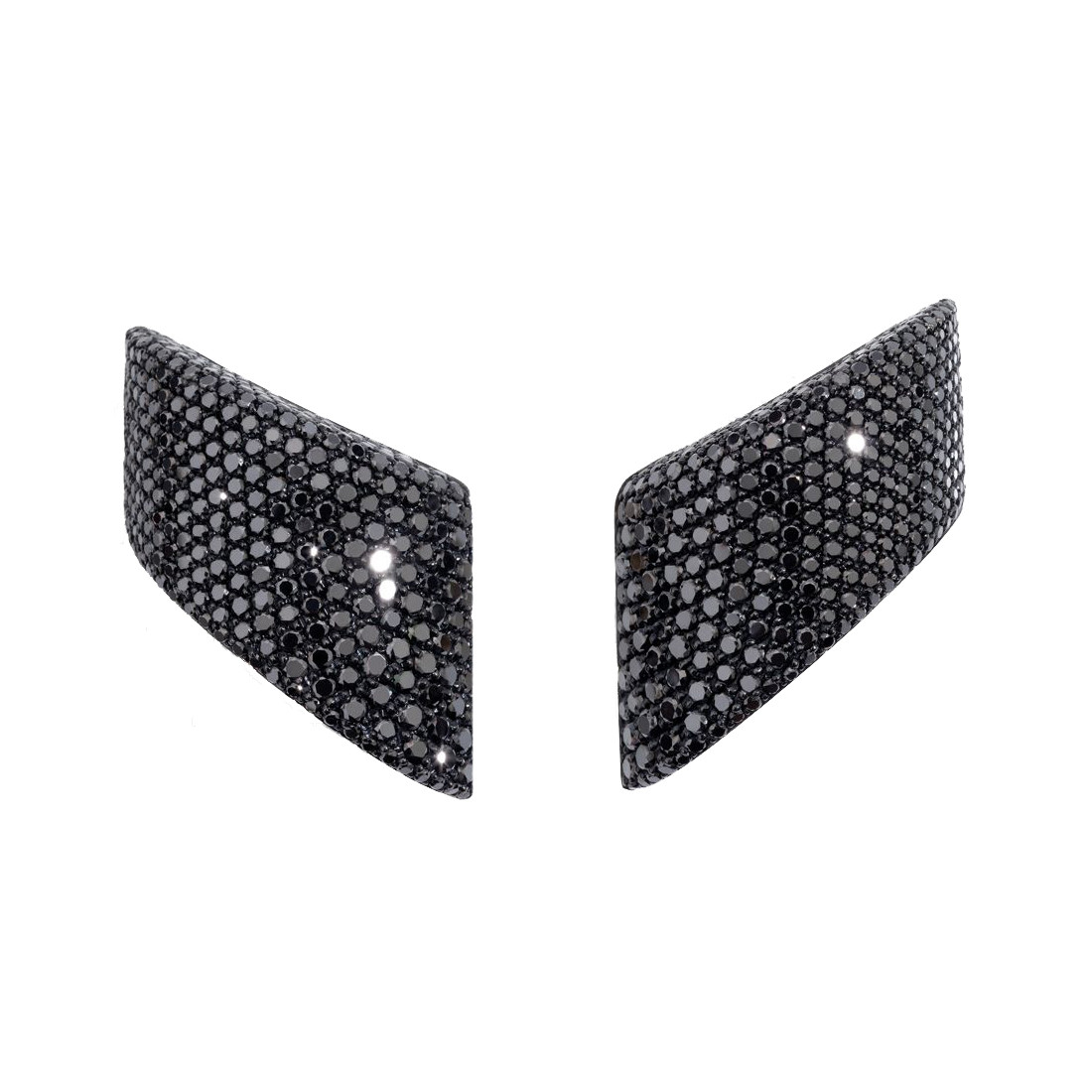 "Black Diamond ""Vague"" Earrings"