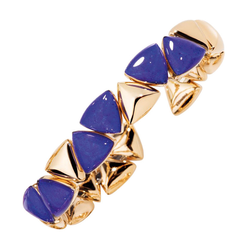 "18k Rose Gold & Lapis ""Freccia Mini"" Cuff"