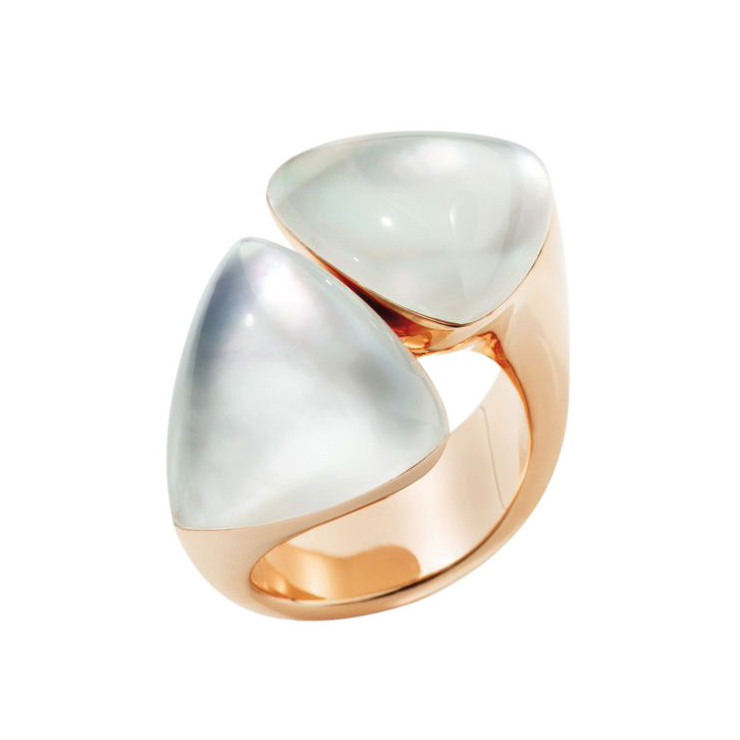 "Rock Crystal & Mother-of-Pearl ""Freccia"" Ring"