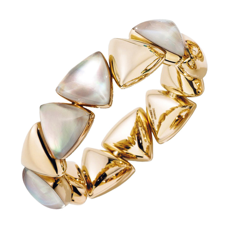 "18k Rose Gold & Mother-of-Pearl ""Freccia"" Bracelet"