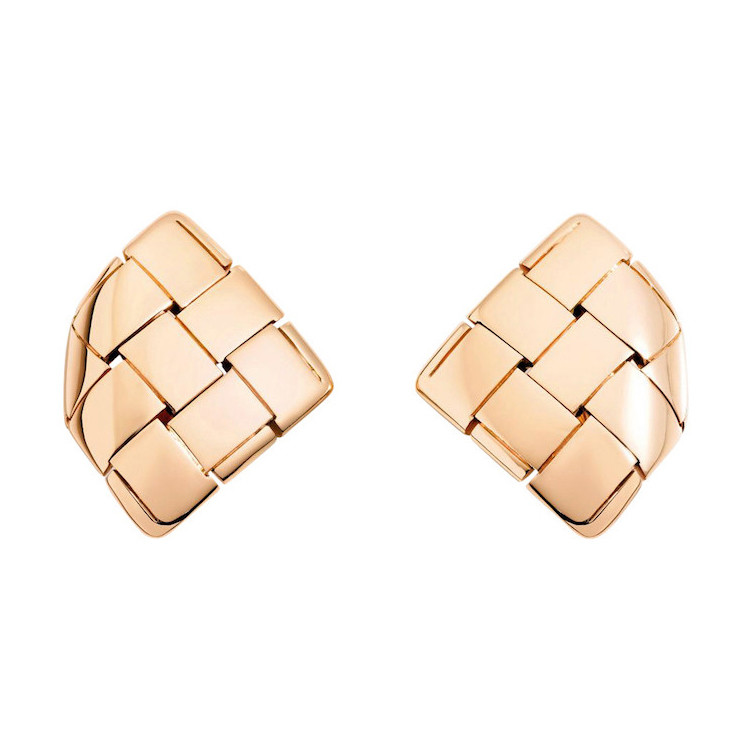"18k Rose Gold ""Giunco Tre"" Earrings"