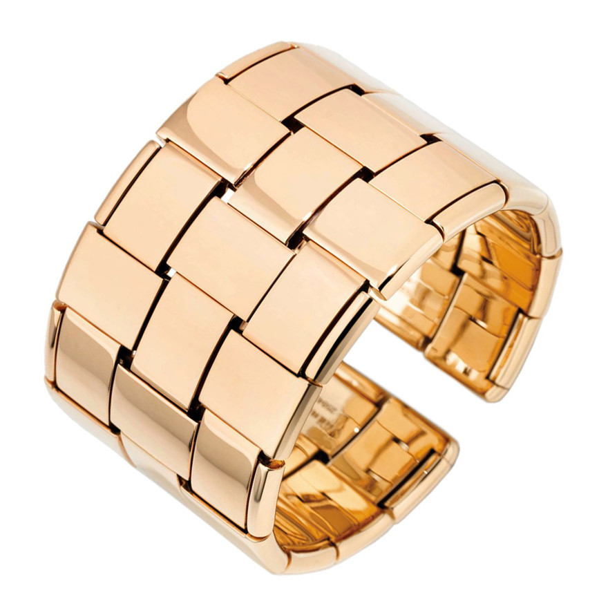 "18k Rose Gold ""Giunco Due"" Cuff Bracelet"
