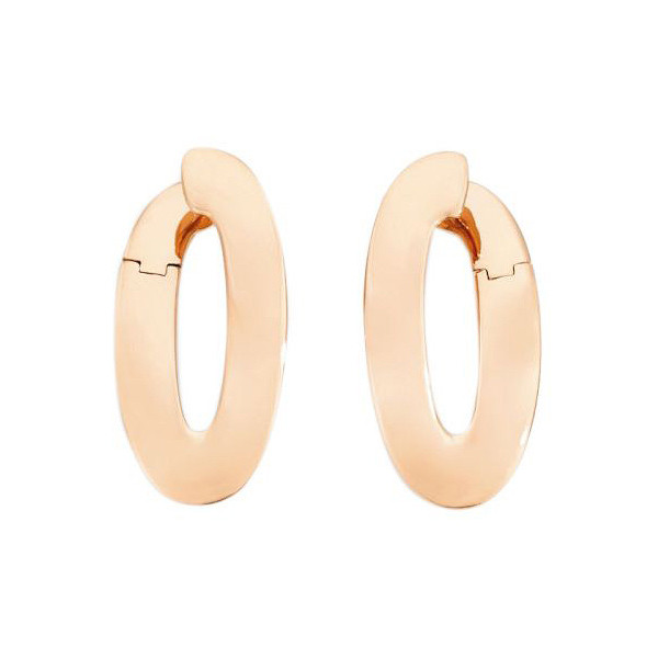 "18k Rose Gold ""Olimpia"" Hoop Earrings"