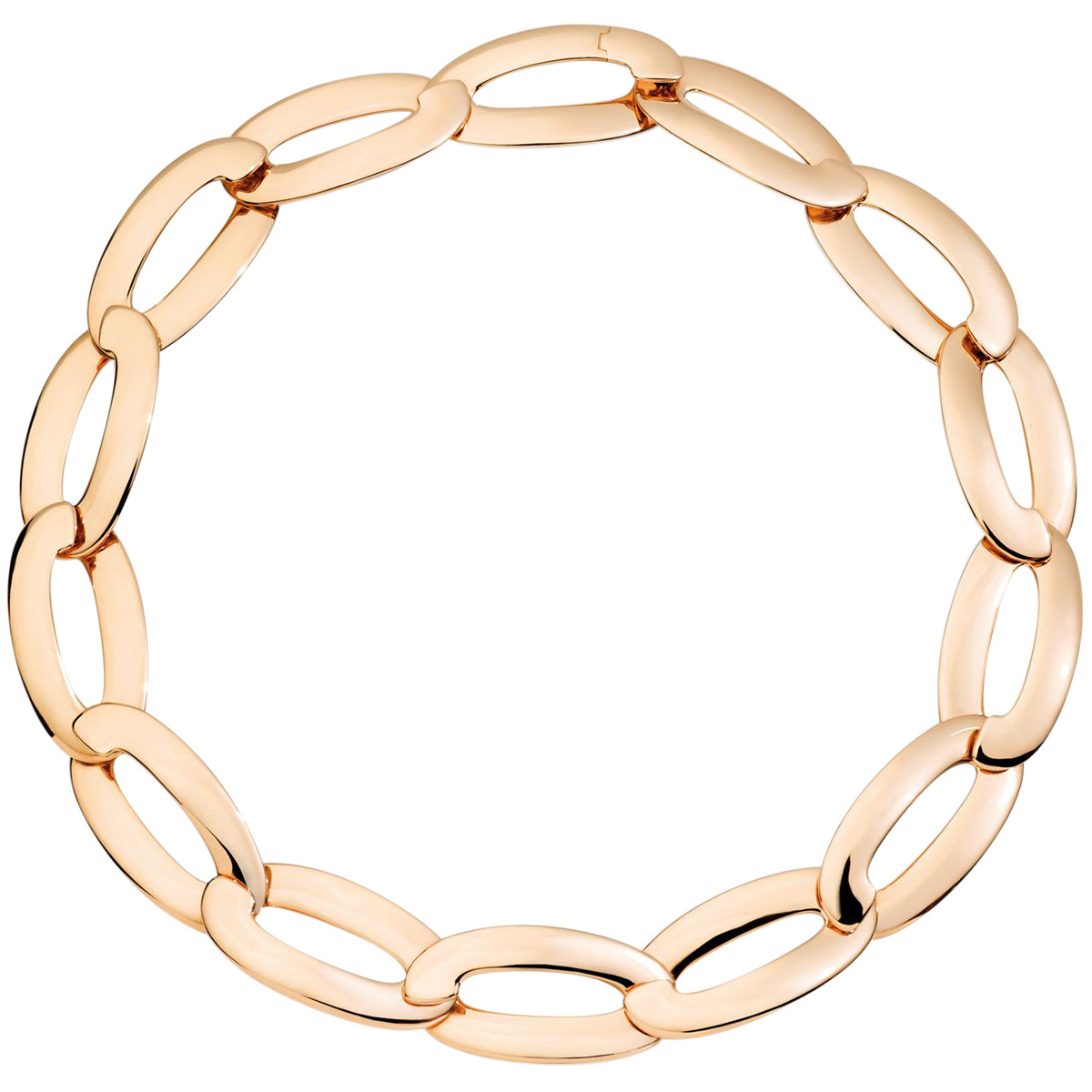 "18k Rose Gold ""Olimpia"" Link Necklace"