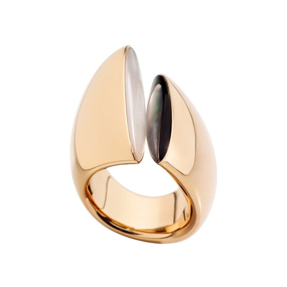 "18k Pink Gold & Mother-of-Pearl ""Eclisse"" Ring"
