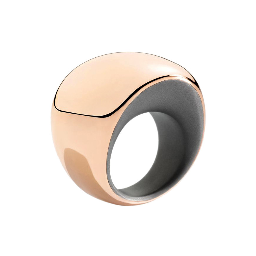 "18k Rose Gold & Titanium ""Pirouette"" Ring"