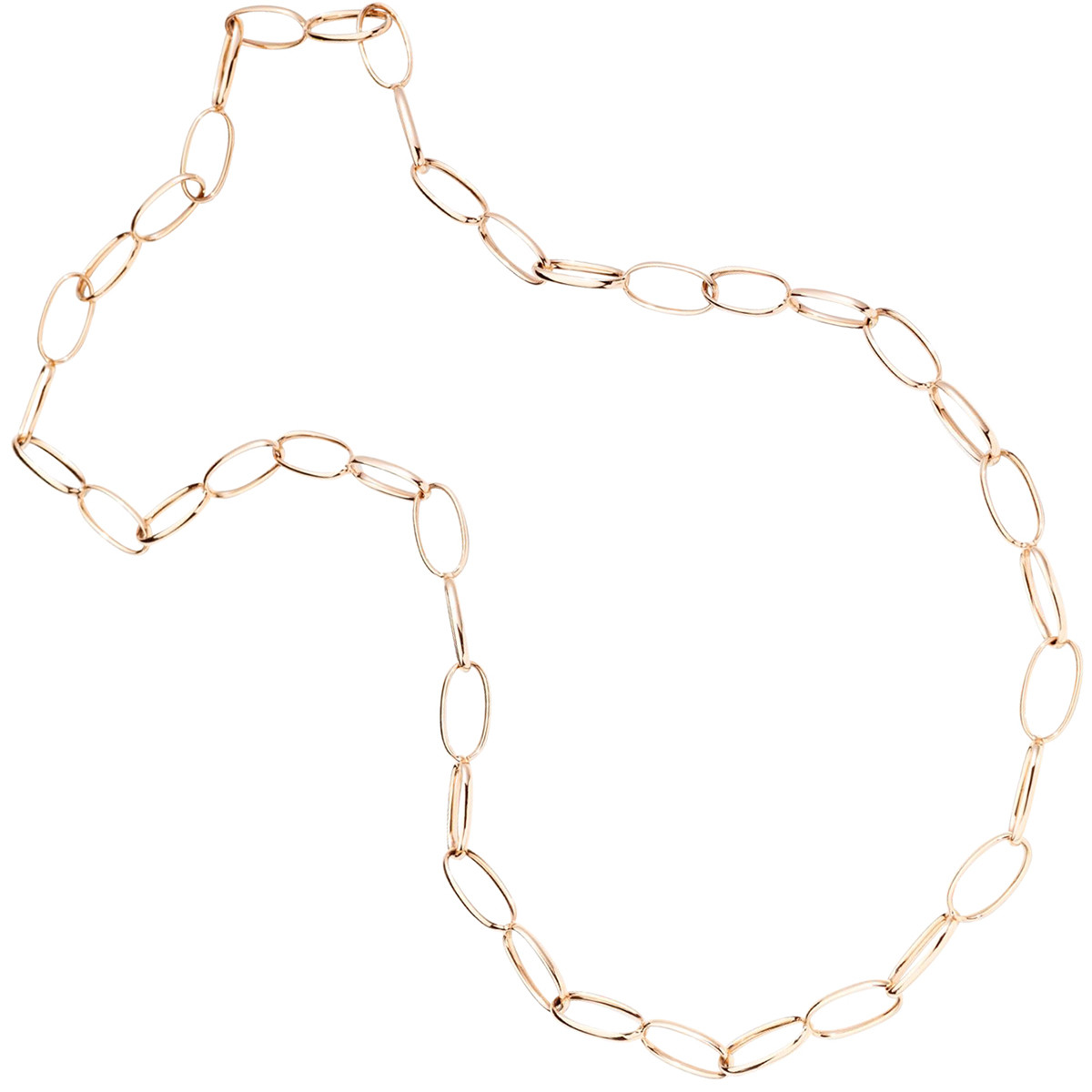 "18k Rose Gold ""Vague"" Chain Long Necklace"