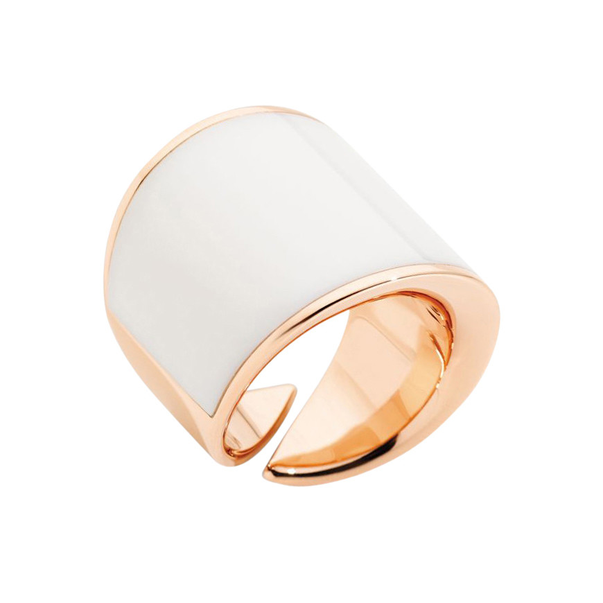 "18k Rose Gold & Kogolong ""Vague"" Ring"