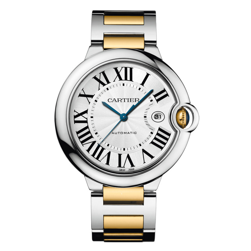 Ballon Bleu 42mm Steel & Yellow Gold (W69009Z3)
