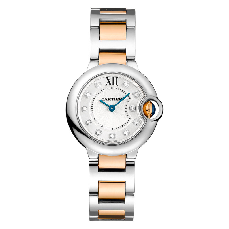 Ballon Bleu 28mm Steel & Rose Gold (WE902030)