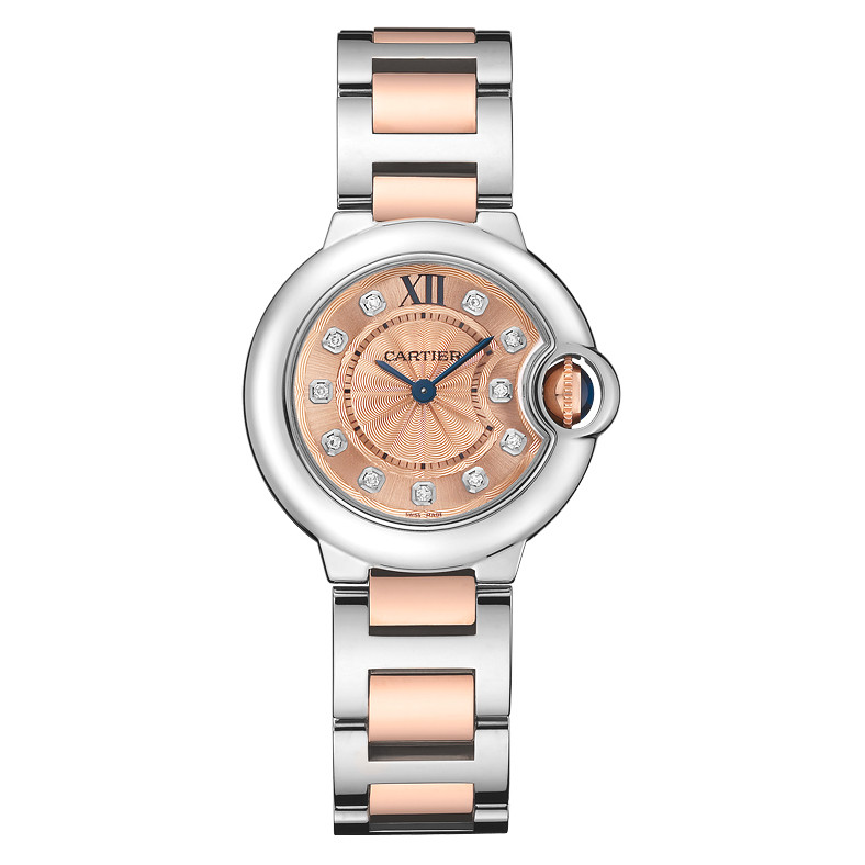 Ballon Bleu 28mm Steel & Rose Gold (WE902052)