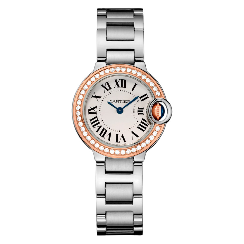 Ballon Bleu 28mm Steel & Rose Gold (WE902079)