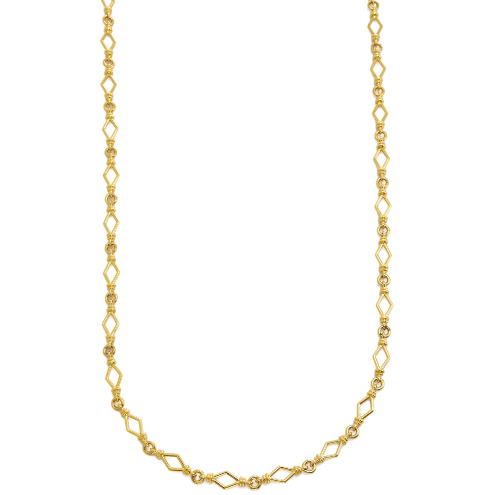 18k Yellow Gold Chain Link Necklace