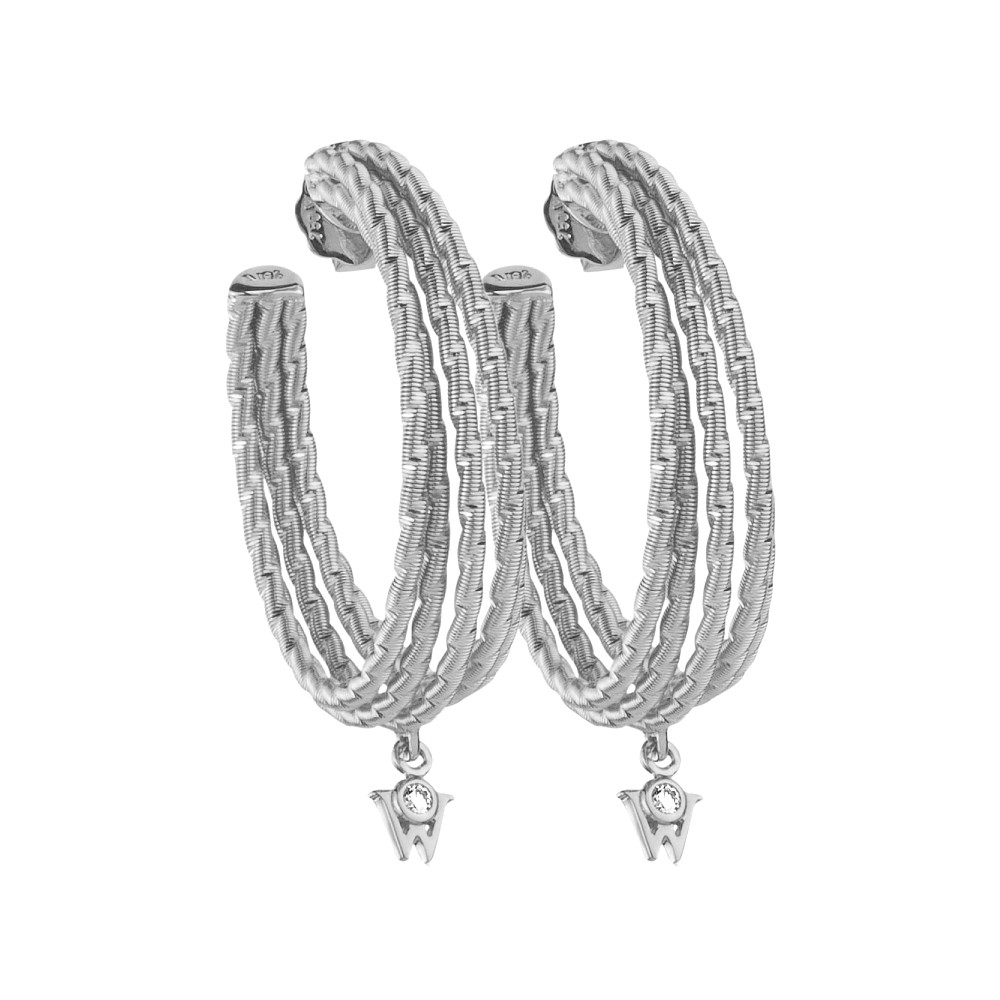 "18k White Gold ""Brilliance of the Sun"" Drop Earrings"