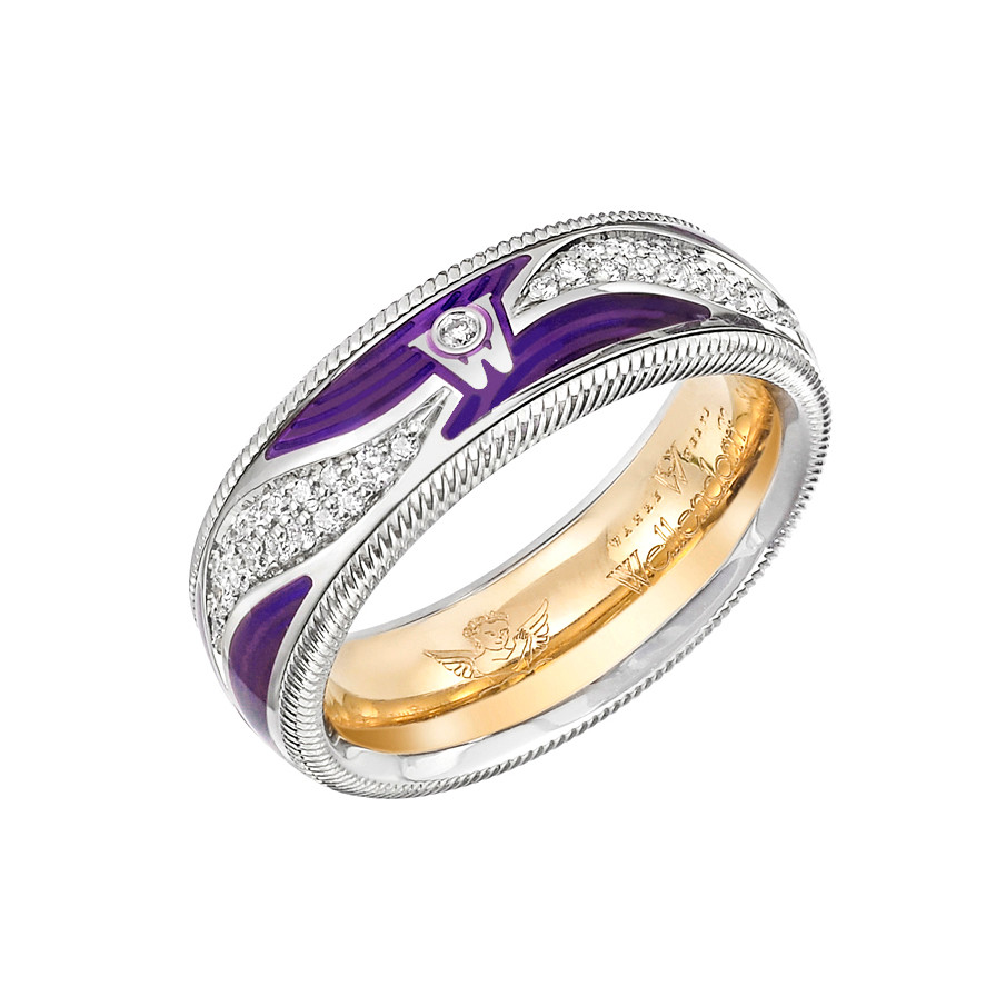 "Diamond & Enamel ""Purple Kiss"" Ring"