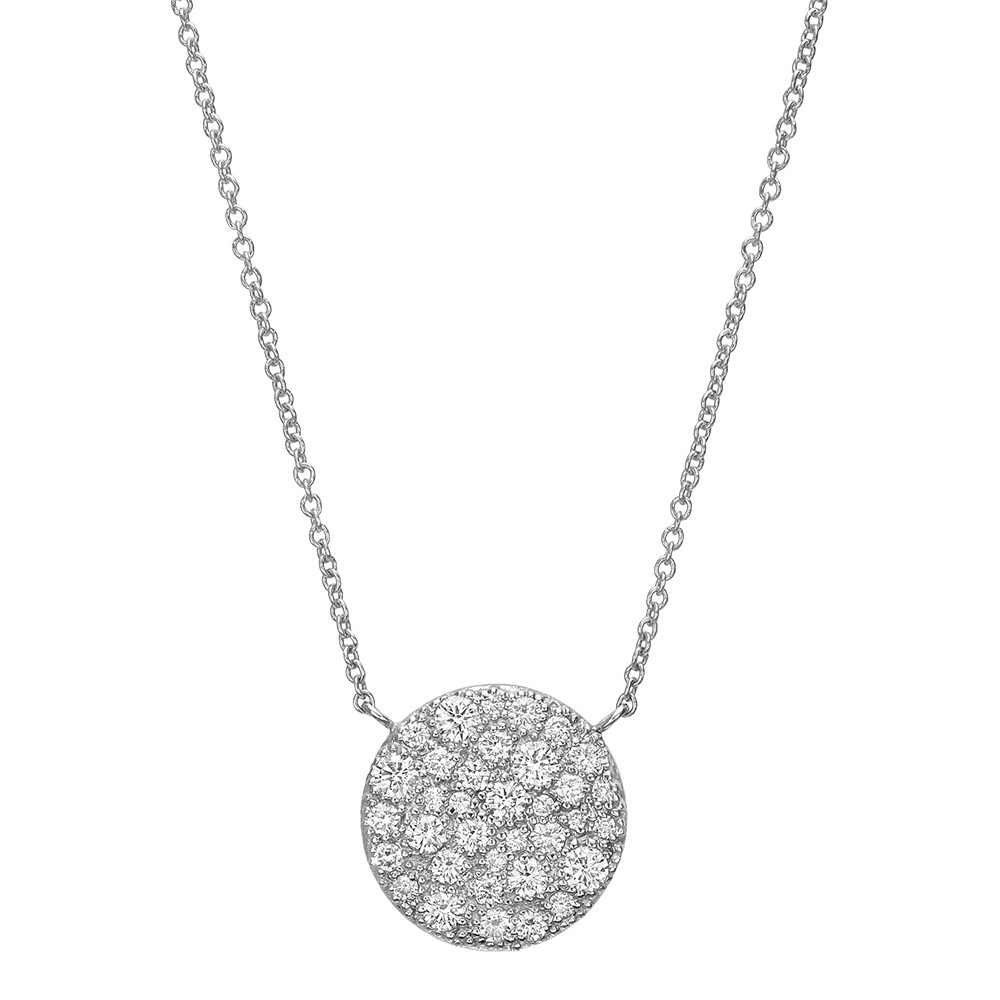 White gold diamond circle pendant betteridge 18k white gold diamond circle pendant mozeypictures Image collections