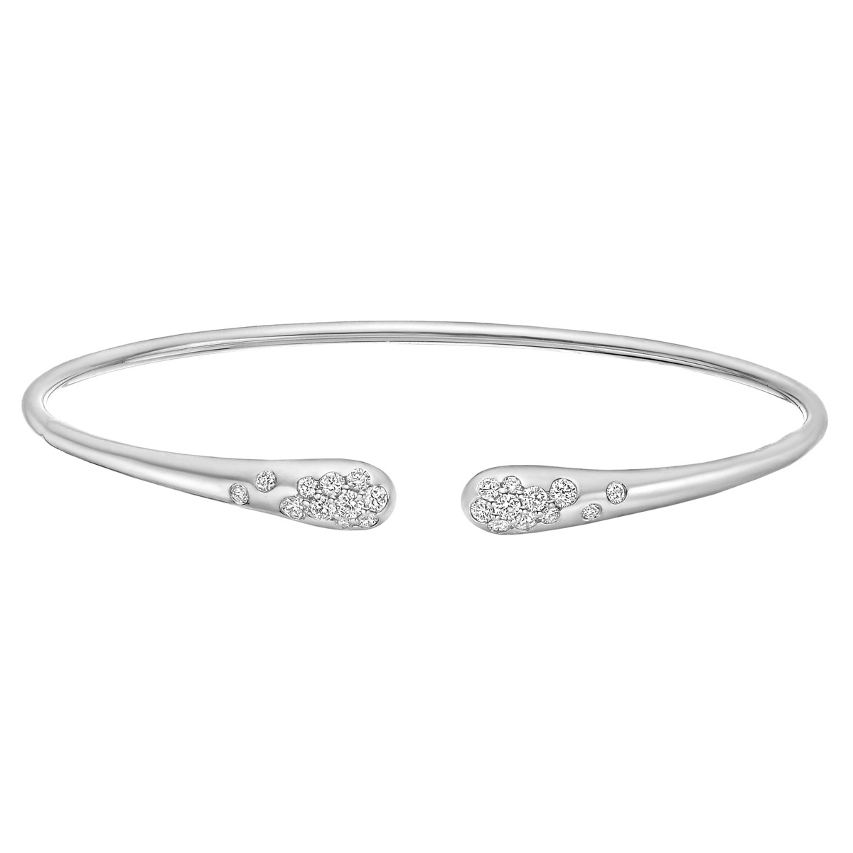 18k White Gold & Diamond Sprinkle Cuff
