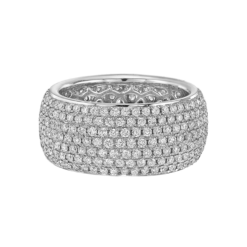 a ct fine colorless bands wide eternity diamond in ring showcasing shared diamonds platinum three setting betteridge of co p link prong tw round row band near rows