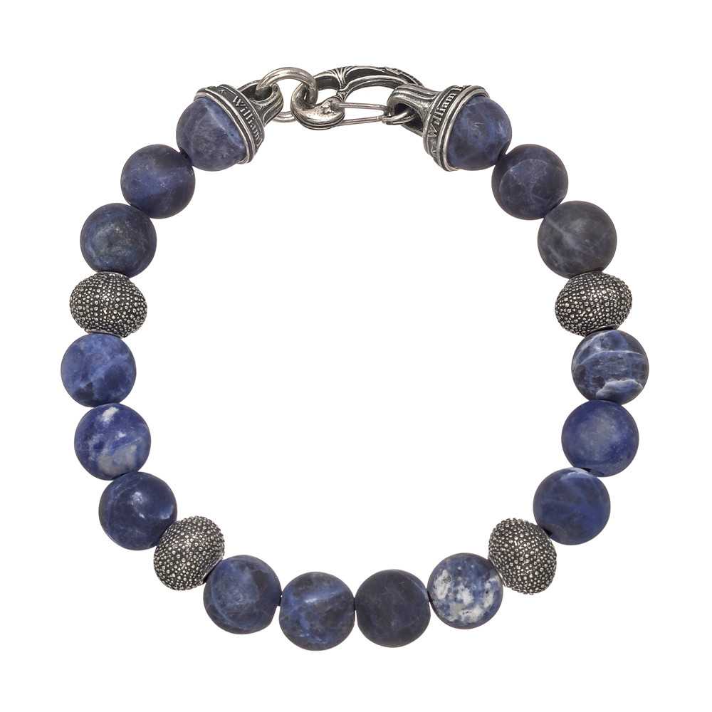 "Men's Frosted Sodalite ""Beach Comber"" Bracelet"