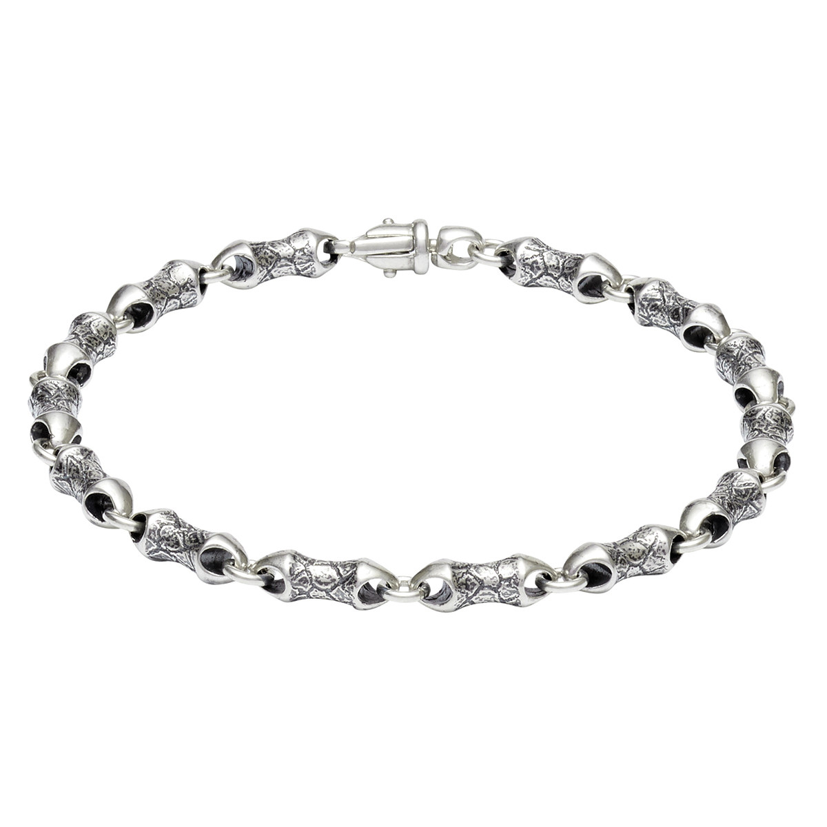 "Men's Sterling Silver ""Origin 1"" Link Bracelet"