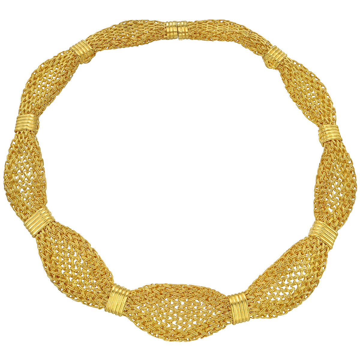 Woven 24k Yellow Gold Necklace