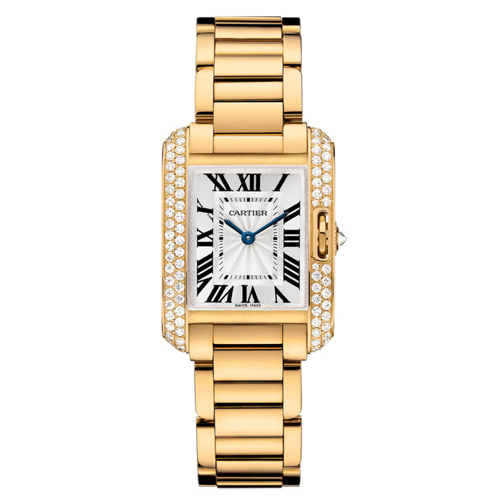 Tank Anglaise Small Yellow Gold & Diamond (WT100005)