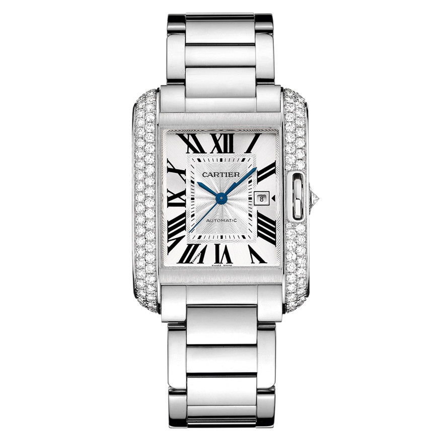 Tank Anglaise Large White Gold & Diamond (WT100009)