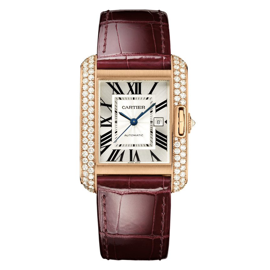 Tank Anglaise Large Rose Gold & Diamond (WT100016)