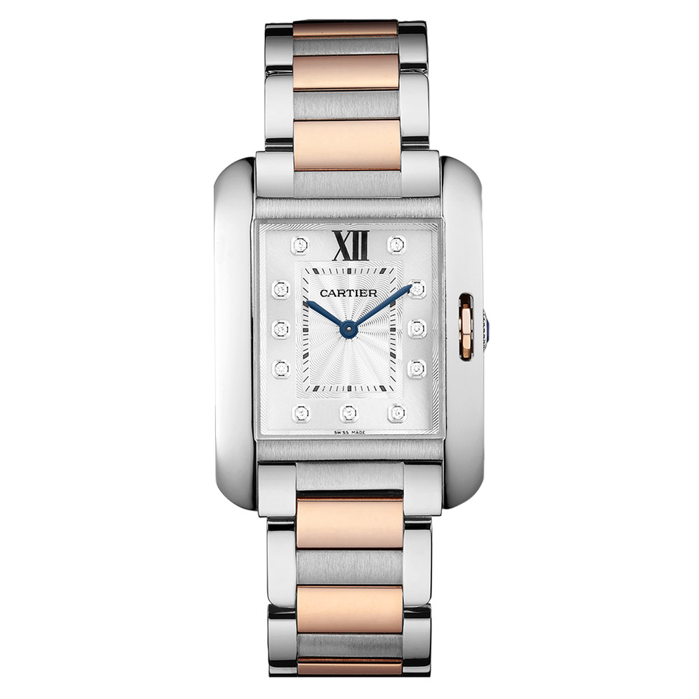 Tank Anglaise Medium Steel & Rose Gold (WT100032)