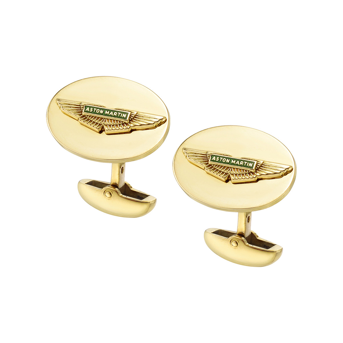 18k Yellow Gold Aston Martin Cufflinks
