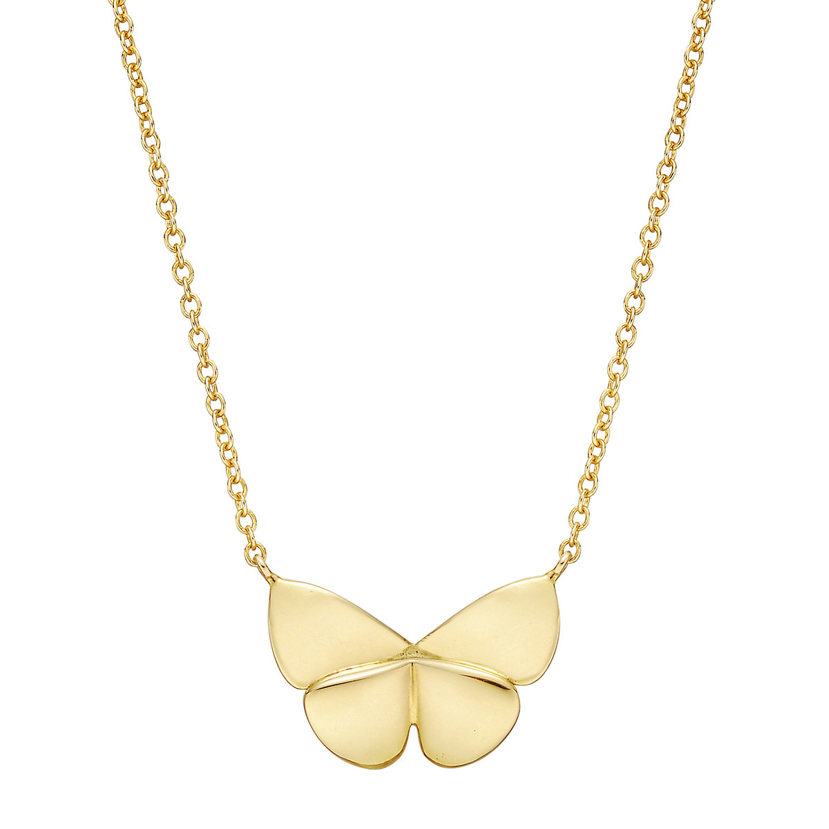 18k Yellow Gold Butterfly Pendant