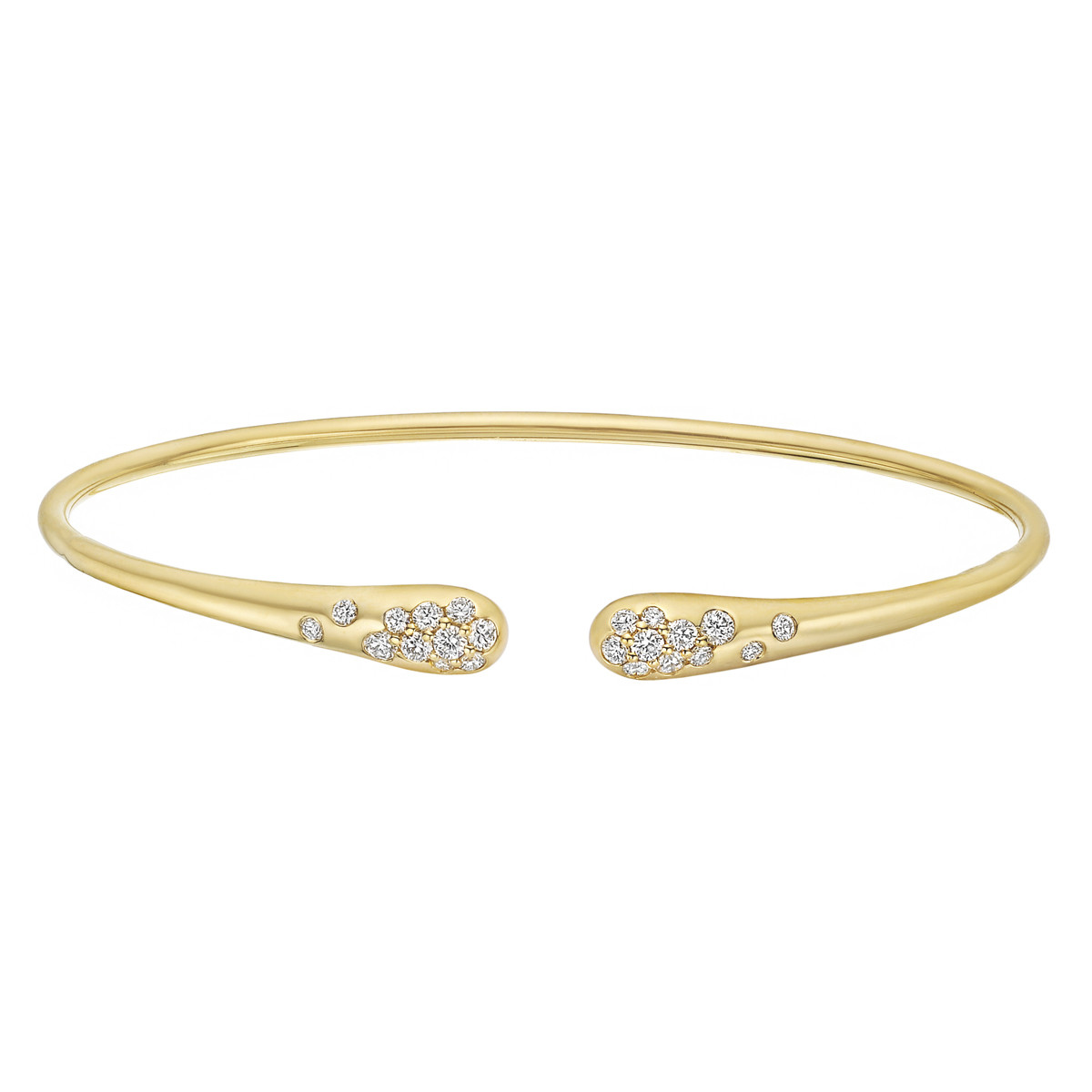 18k Yellow Gold & Diamond Sprinkle Cuff