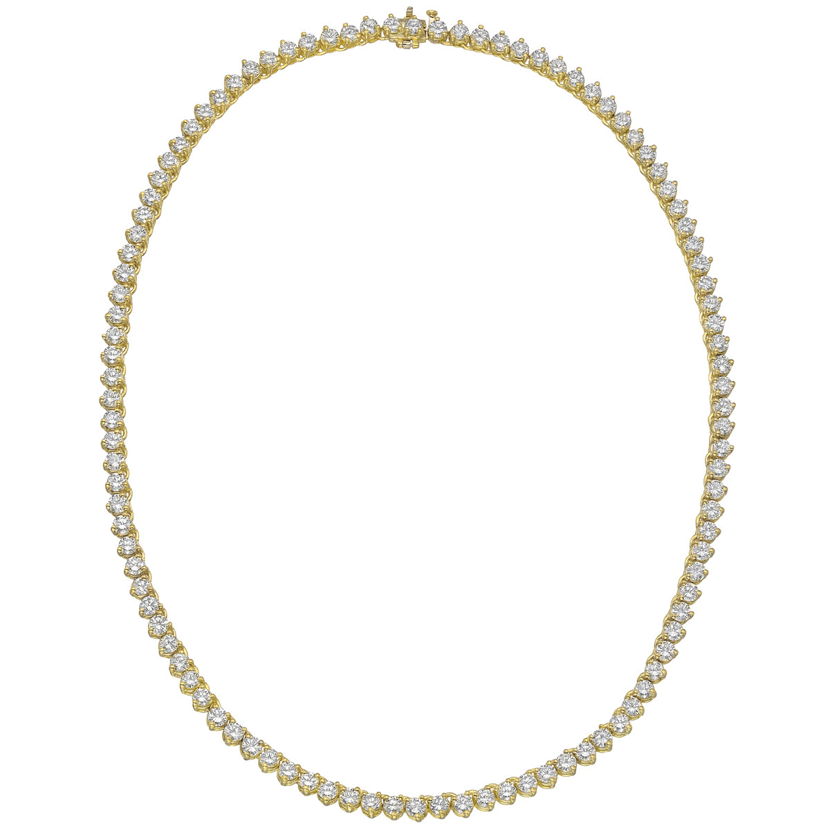 Round Brilliant Diamond Line Necklace (~16 ct tw)