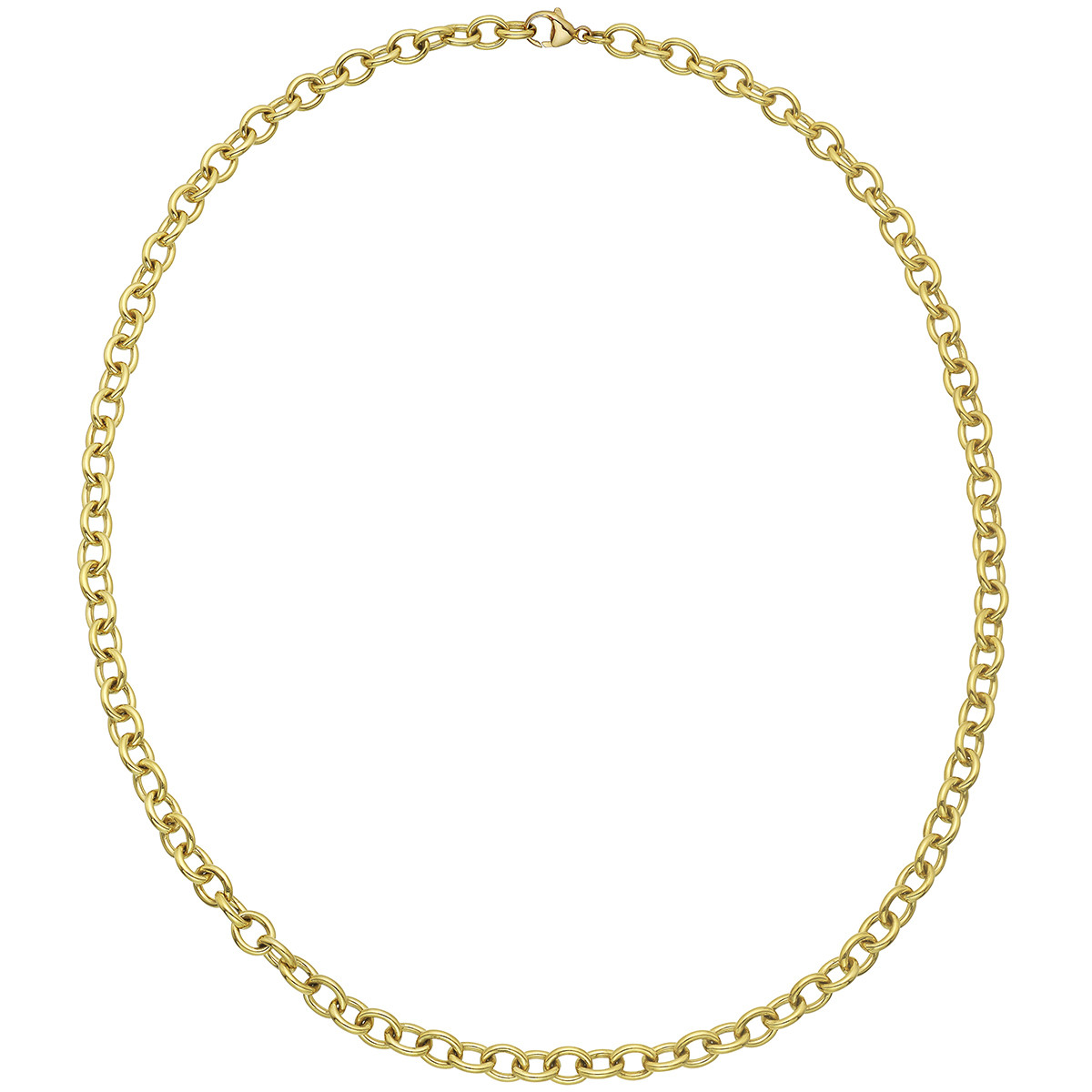 18k Yellow Gold Chunky Oval Link Necklace